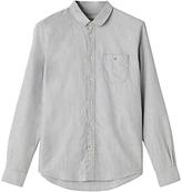 Jigsaw Round Collar Shirt, Grey Melange