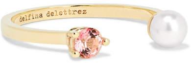 Delfina Delettrez Dot 9-karat Gold, Topaz And Freshwater Pearl Ring