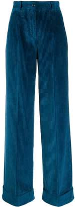 Pt01 high waisted corduroy trousers