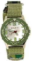 Solo Quartz Analogue Green Fabric Strap Boys Watch D278