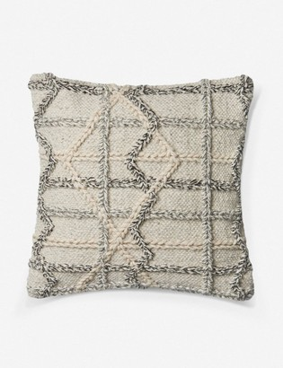 ED Ellen Degeneres Lulu And GeorgiaLulu & Georgia Nanterra Pillow, Natural and Gray, Crafted by Loloi