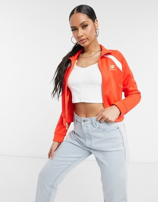 New Balance cropped jacket in red