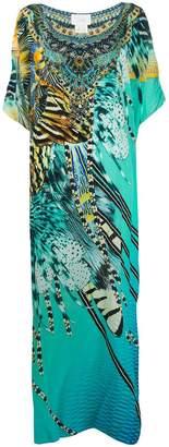 Camilla straight fit marine print silk dress