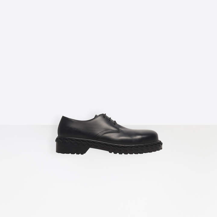 Balenciaga Soft calfskin derbies with decorative laces