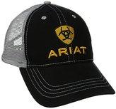 Ariat Men's Black Front Gray Mesh Hat