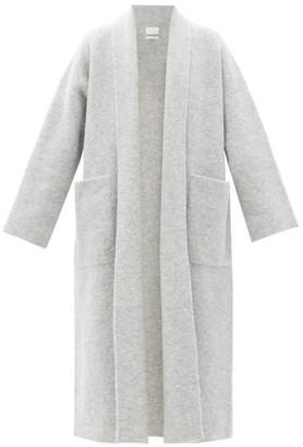 LAUREN MANOOGIAN Shawl-collar Alpaca-blend Coat - Light Grey