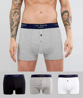 Ted Baker Trunks In 3 Pack With Button Front