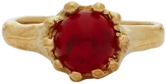 MONDO MONDO Gold and Red Lush Ring
