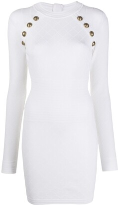 Balmain Button Knit Dress