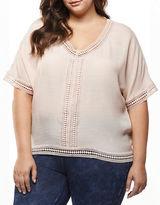 Dex Plus Crochet-Accented Top