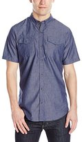 Burnside Men's Rainfall Short Sleeve Woven Shirt