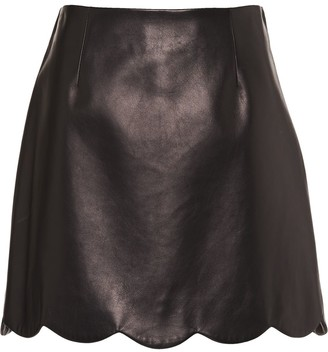 Miu Miu Scalloped Hem Mini Skirt