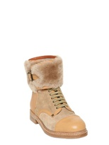 See by Chloe 20mm Leather & Shearling Boots