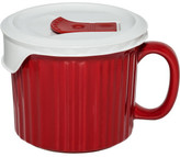 Corningware 600ml Soup Mug with vented lid Red