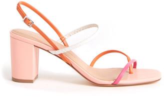 Chinese Laundry Pink Colorblock Yanna Sandal Pink Multi 9.5
