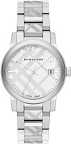 Burberry 38mm The City Round Stainless Steel Bracelet Watch