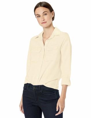 Chaps Women's Long Sleeve Linen Cotton Shirt