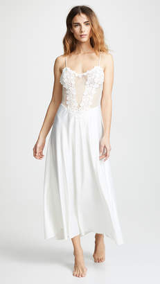 Flora Nikrooz Showstopper Charmeuse Gown with Lace