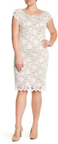 ABS by Allen Schwartz Cap Sleeve Lace Dress (Plus Size)