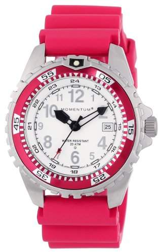 Momentum M1 Twist Women's Quartz Watch with White Dial Analogue Display and Pink Rubber Strap 1M-DV11WF1F