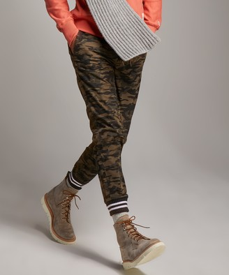 Todd Snyder Olive Camo Cotton Joggers