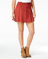 American Rag Embellished Faux-Suede A-Line Skirt, Only at Macy's