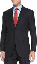 Kiton Menswear Solid Two-Piece Suit, Navy