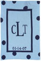 Butterscotch Blankees Polka-Dot Knit Blanket, Blue