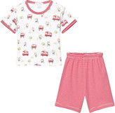 Kissy Kissy White and Red Stripe Embroidered Detail Set