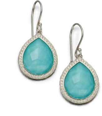 Ippolita Lollipop Sterling Silver, Doublet & Diamond Teardrop Earrings