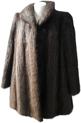 No Name Brown Beaver Coat for Women
