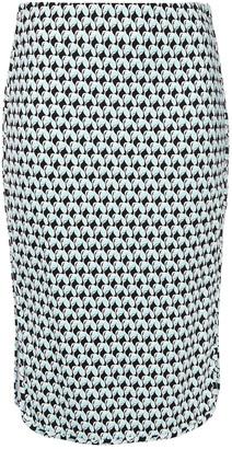 Diane von Furstenberg Noemi Printed Stretch-jersey Pencil Skirt