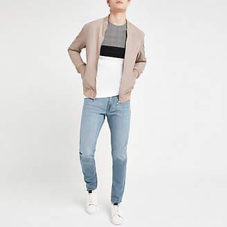 River Island Lee light blue slim fit tapered Luke jeans