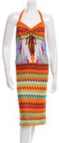 Missoni Chevron Printed Halter Dress