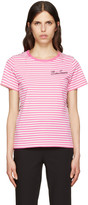 Marc Jacobs Pink Printed Patchwork T-Shirt