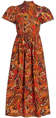 Rhode Resort Heidi Paisley Midi Dress