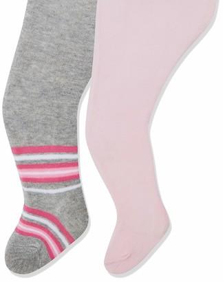 Playshoes Baby Girls' elastisch Unifarben und Geringelt mit Komfortbund Tights