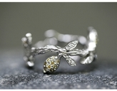 Cathy Waterman Lemon Branch Ring - Love Of My Life Collection
