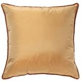 Ann Gish Beaded Welt Taffeta Pillow