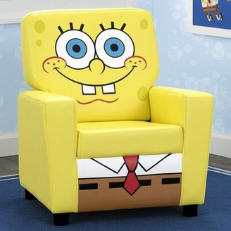 SpongeBob Squarepants High Back Upholstered Kids Desk / Activity Chair Delta Children