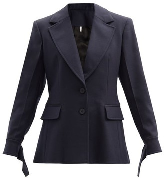 Chloé Single-breasted Twill Jacket - Blue