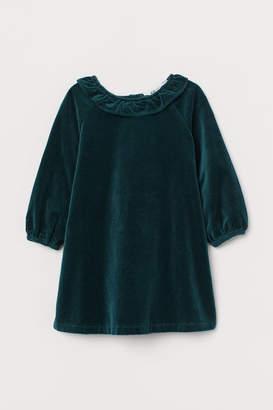 H&M Cotton velvet dress