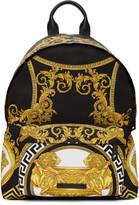 Versace Black Coup De Dieux Backpack