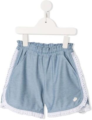 Familiar Lace Trim Shorts