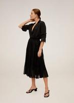 MANGO Lace midi skirt black - XS - Women