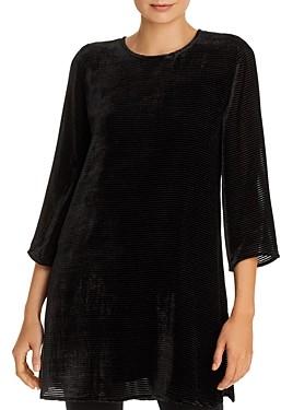 Eileen Fisher Petites Ribbed Velvet Tunic Top