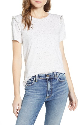 Lucky Brand Ruffle Trim Crewneck T-Shirt