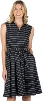 Larry Levine Women's Fit & Flare Stripe Dress