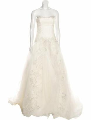 Zac Posen Embellished Strapless Wedding Gown