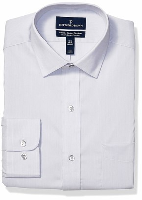Buttoned Down Amazon Brand Men's Classic Fit Tech Stretch CoolMax Easy Care Dress Shirt